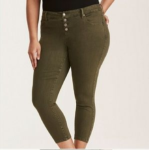 Torrid Ultra Skinny Crop High Waisted Jeans 16